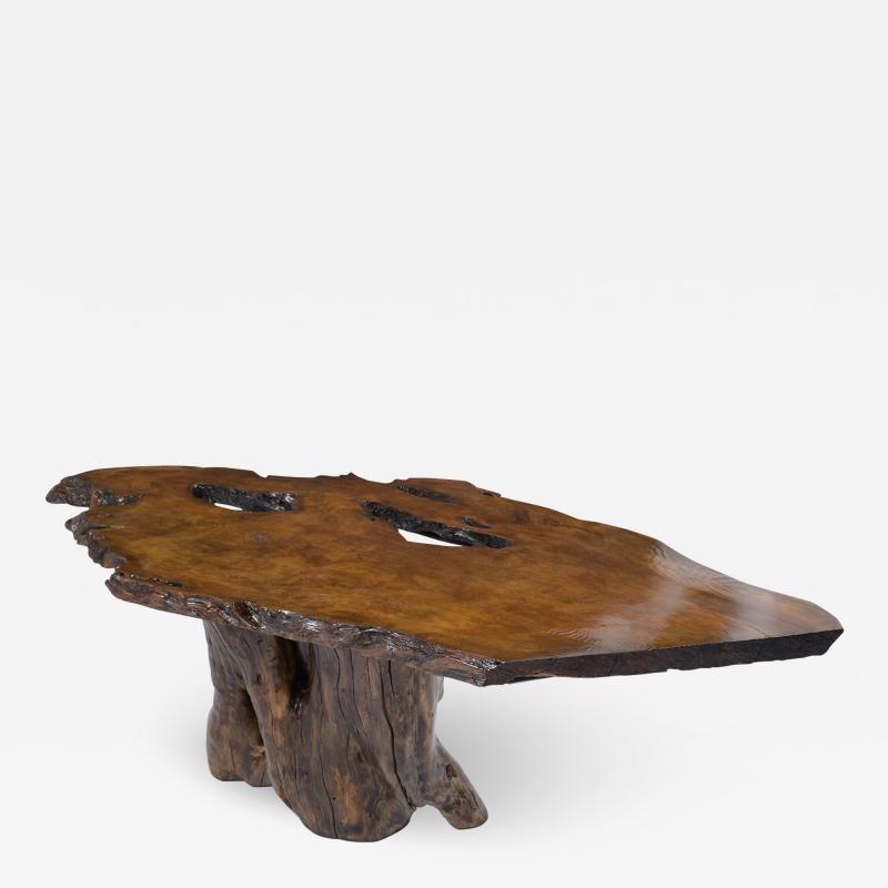 Organic Walnut Tree Trunk Freeform Table