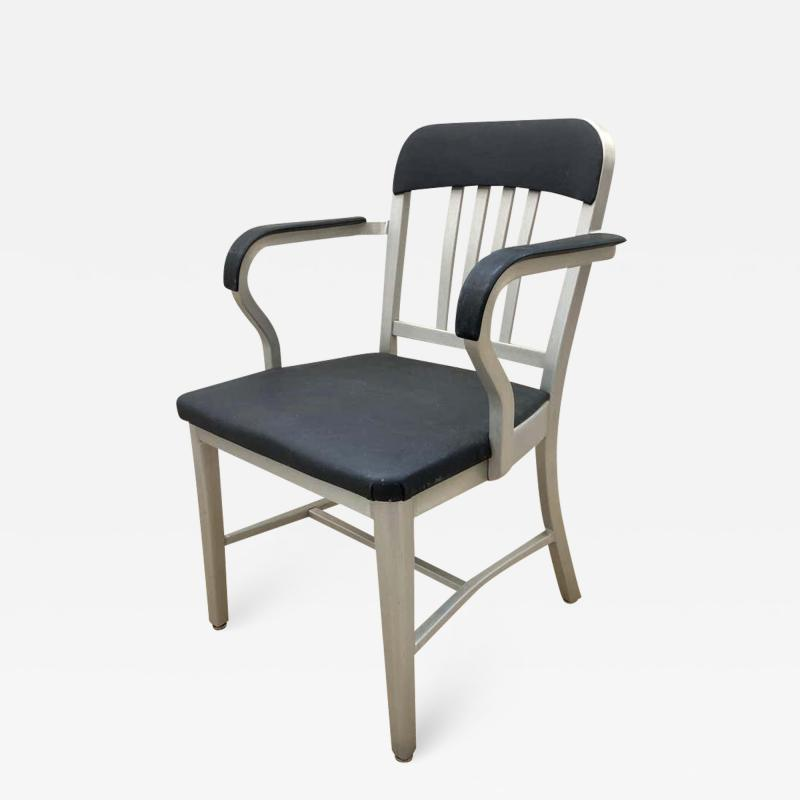 Original Aluminum and Perforated Vinyl Emeco Navy Desk or Armchair 1965