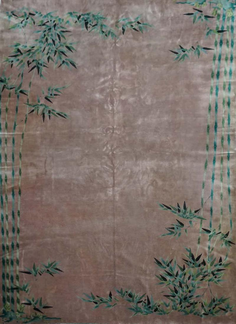 Original Chinese Rug in Silky Wool Light Pink Bambou Finest Quality