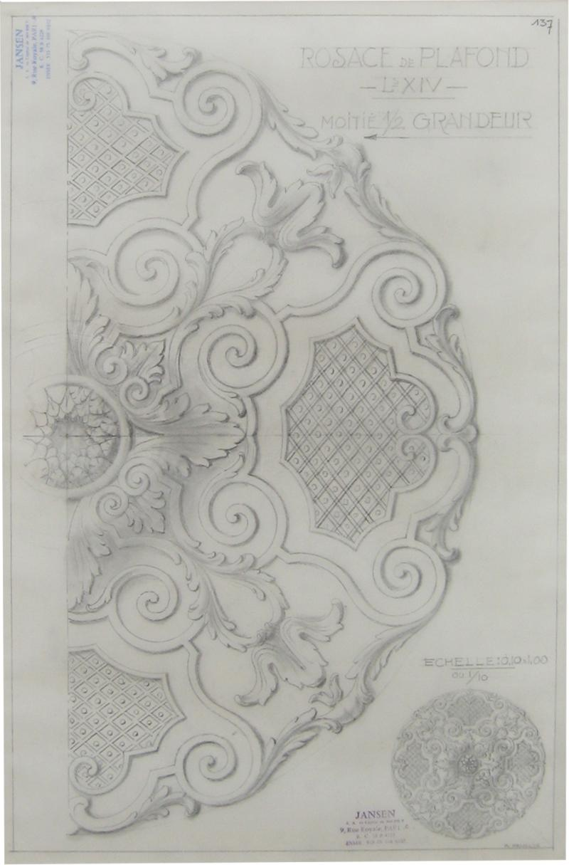 Original Jansen Architectural Pencil Drawing
