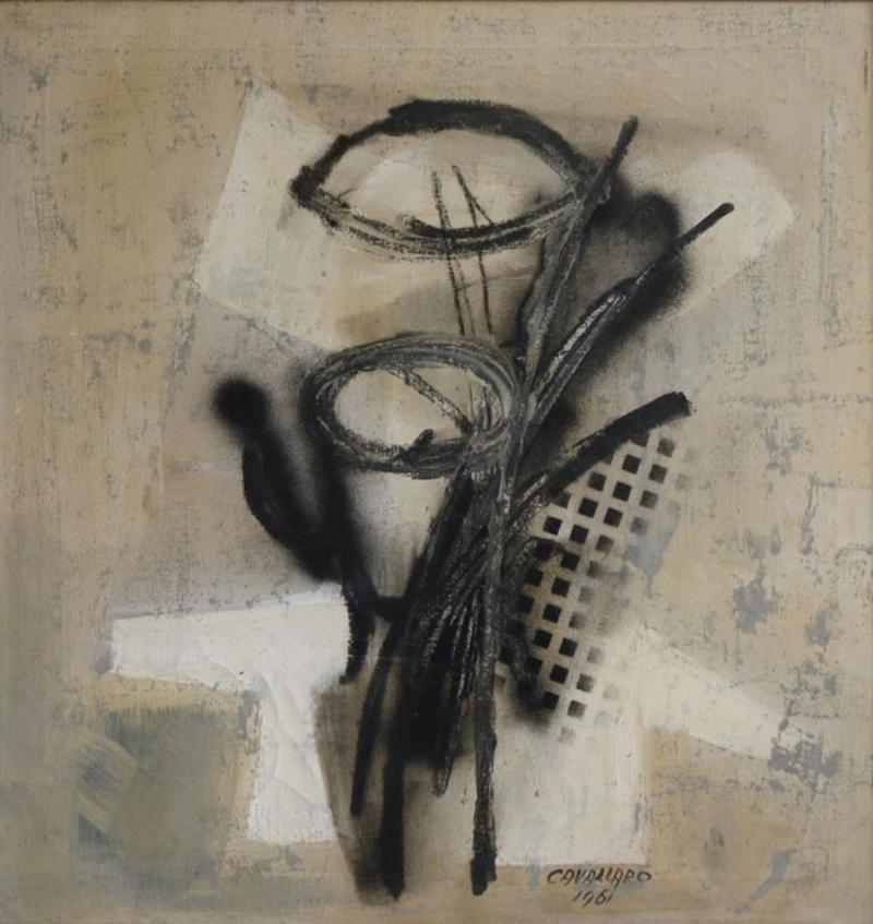 Original Midcentury Abstract Painting by Vincent Cavallaro