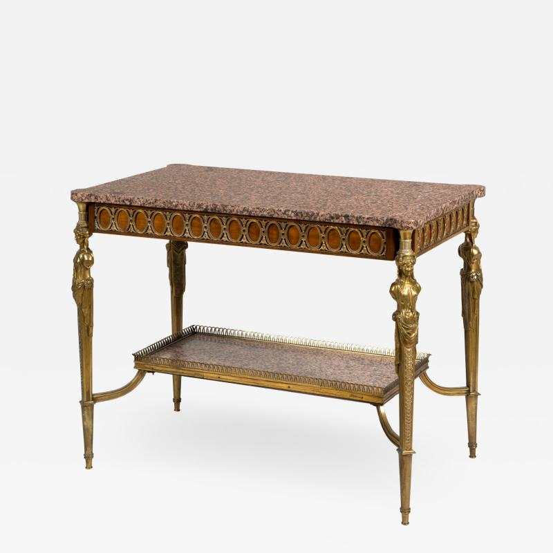 Ormolu mahogany and marble French antique centre table
