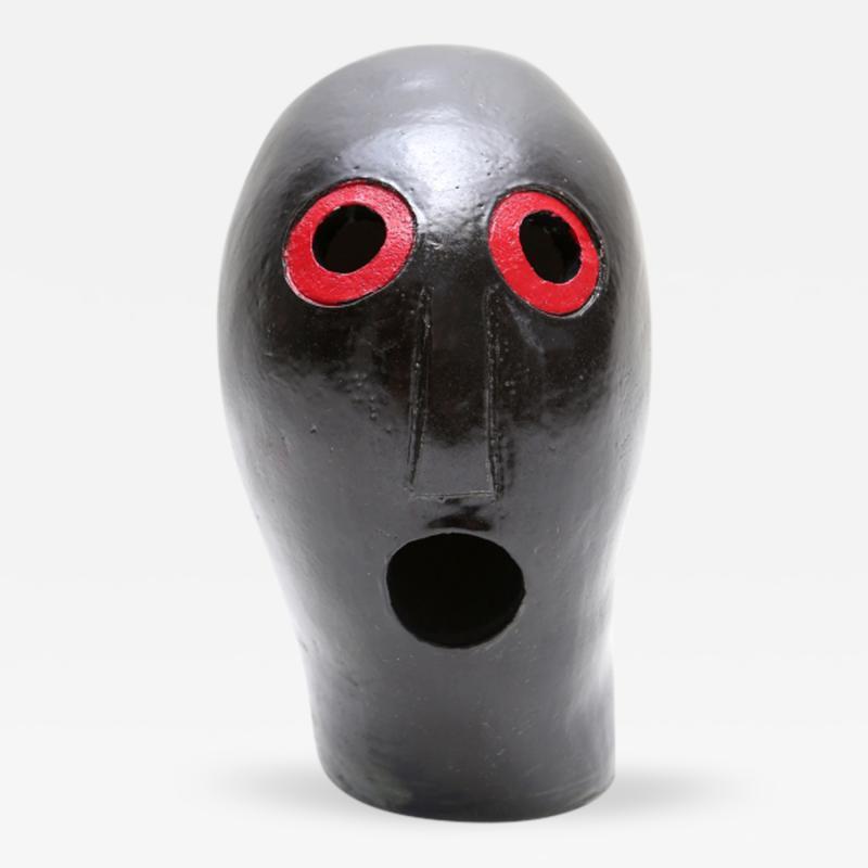Oskar Schlemmer Ceramic Mask Sculpture attributed to Oskar Schlemmer