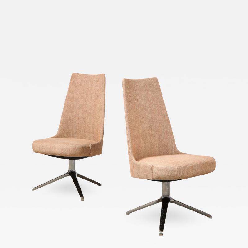 Osvaldo Borsani High Back Swivel Chairs by Osvaldo Borsani Valeria Fantoni