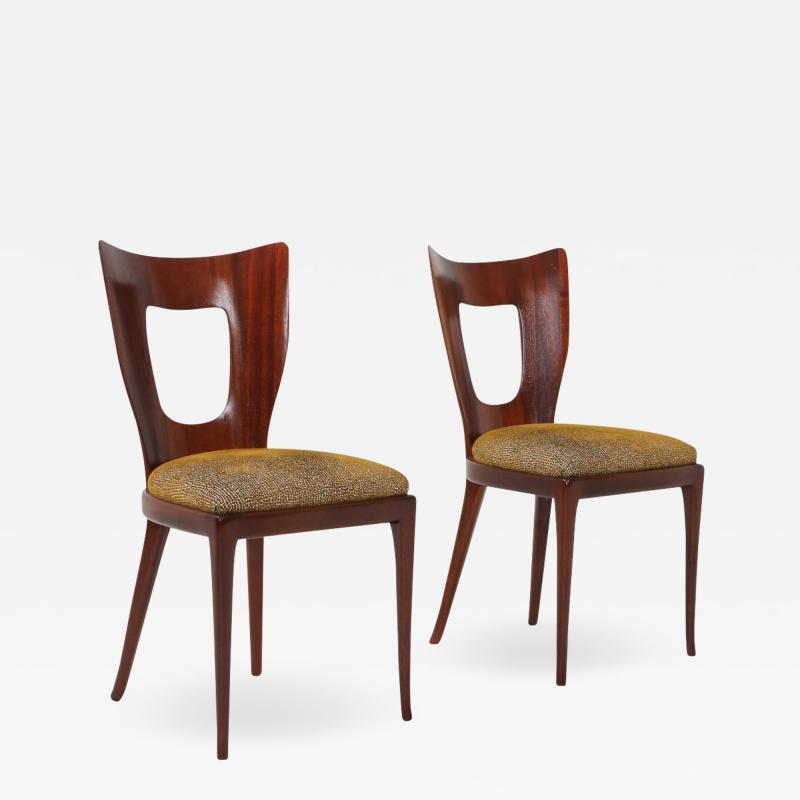 Osvaldo Borsani Osvaldo Borsani Dining Chairs in Mahogany 1950s