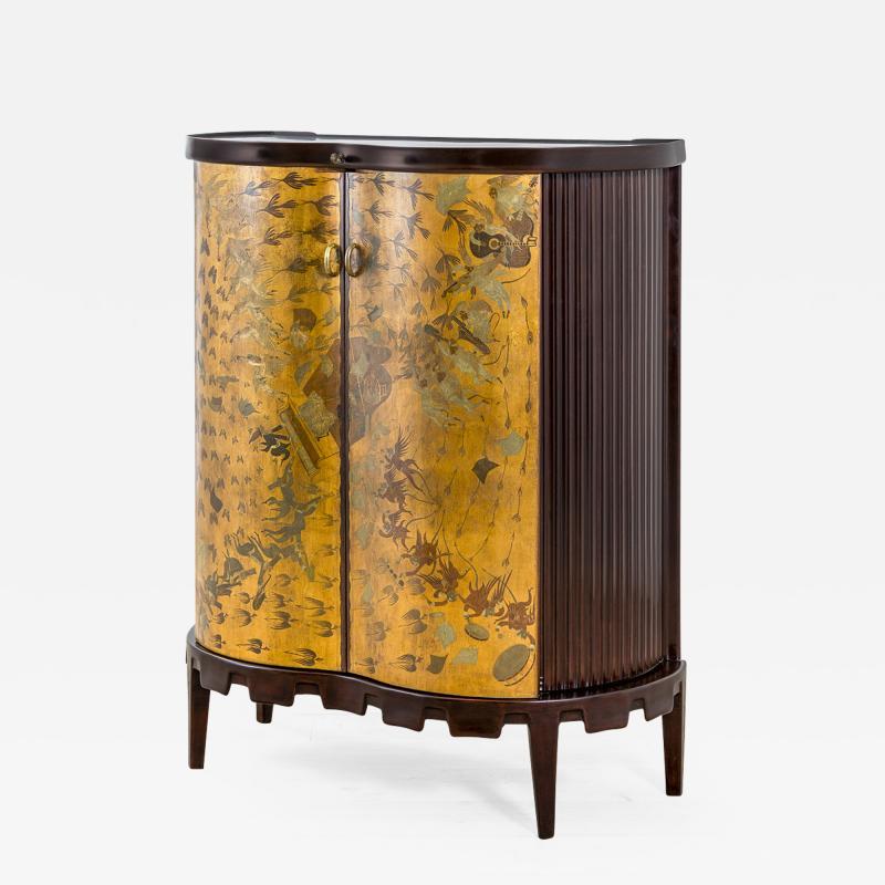 Osvaldo Borsani Osvaldo Borsani Luminous Bar Cabinet in Wood and painted Wood