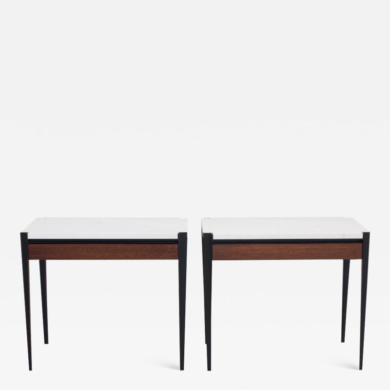 Osvaldo Borsani Pair of Osvaldo Borsani P68 Side Tables by Tecno