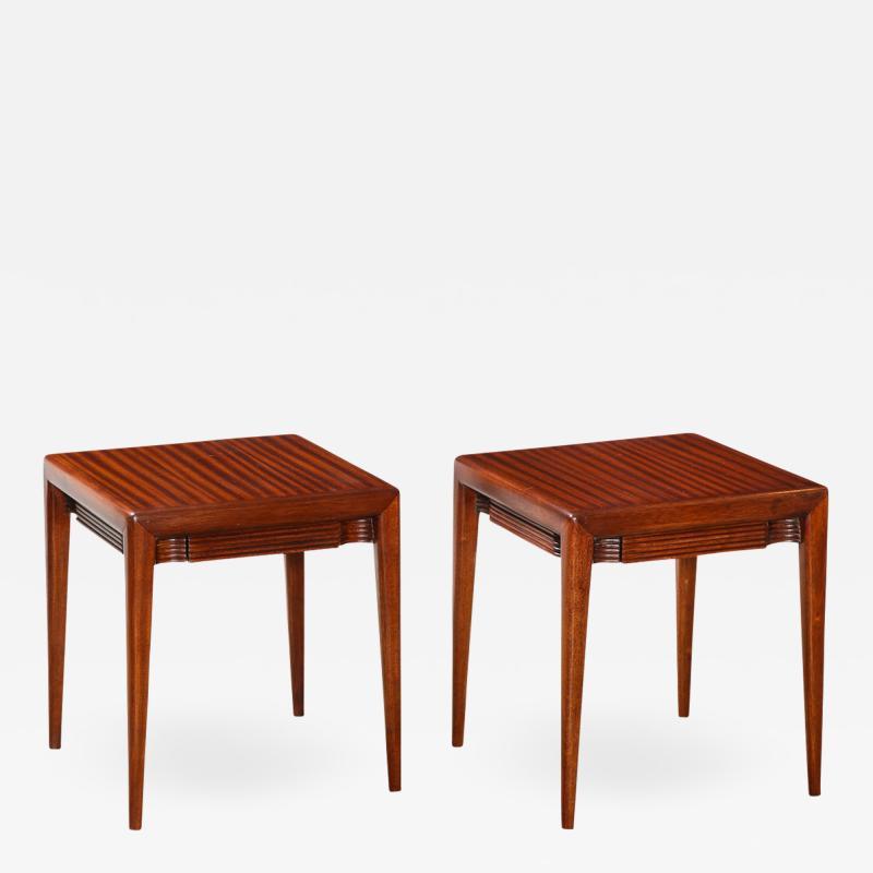 Osvaldo Borsani Pair of Rare Low Side Tables by Osvaldo Borsani