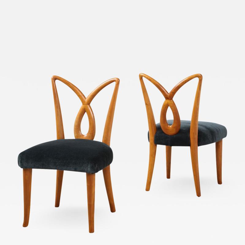 Osvaldo Borsani Rare Pair of Side Chairs by Osvaldo Borsani for ABV