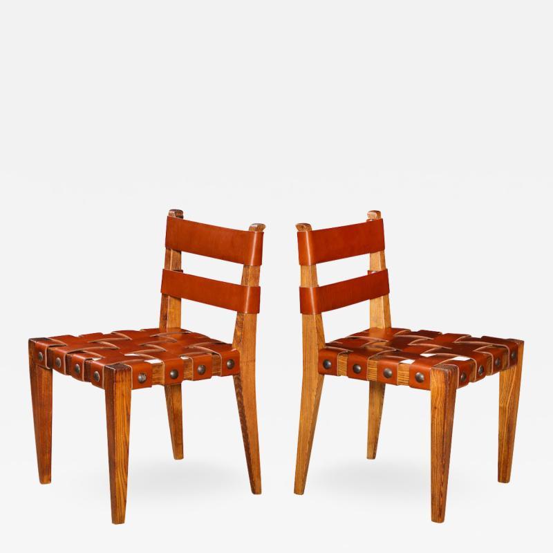 Osvaldo Borsani Rare Pair of Side chairs by Osvaldo Borsani