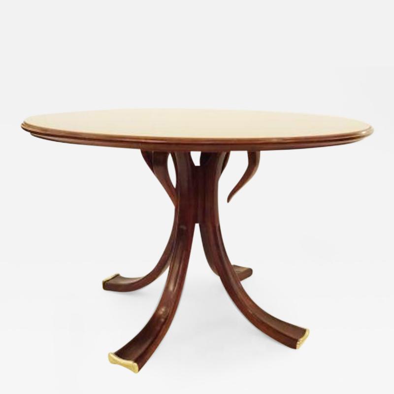 Osvaldo Borsani Rare and Important Center Table in Cherry and Glass by Osvaldo Borsani