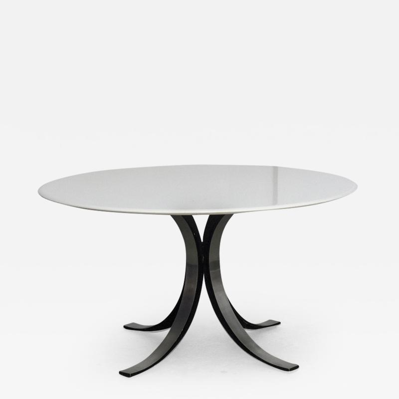 Osvaldo Borsani T69 Round White Table for Tecno 1963