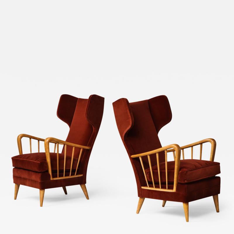 Osvaldo Borsani Wing Chairs Model 6053B by Osvaldo Borsani for ABV