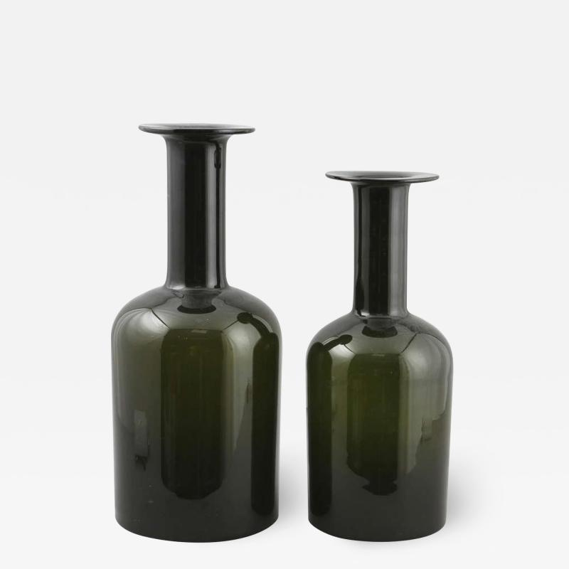 Otto Brauer Pair of Oversized Vases Designed by Otto Brauer for Holmegaard