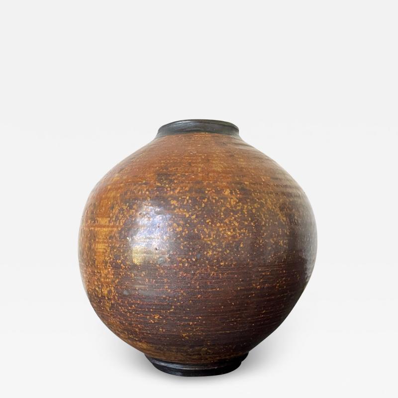 Otto Heino Ceramic Moon Jar Vase by Otto Heino