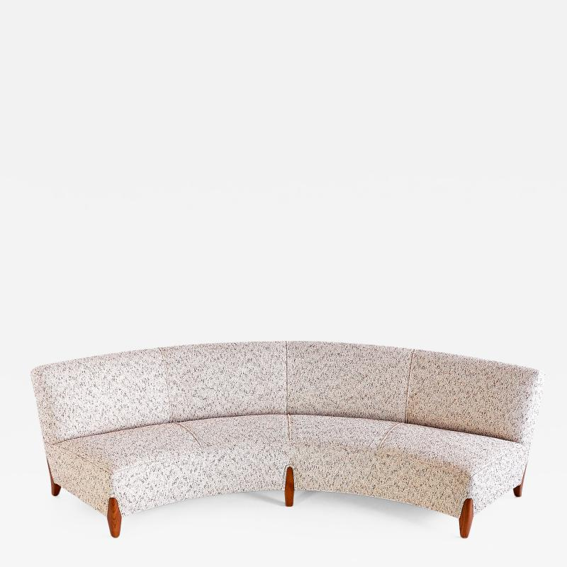 Otto Schultz Otto Schulz Curved Four Seat Sofa for Boet Sweden Mid 1940s
