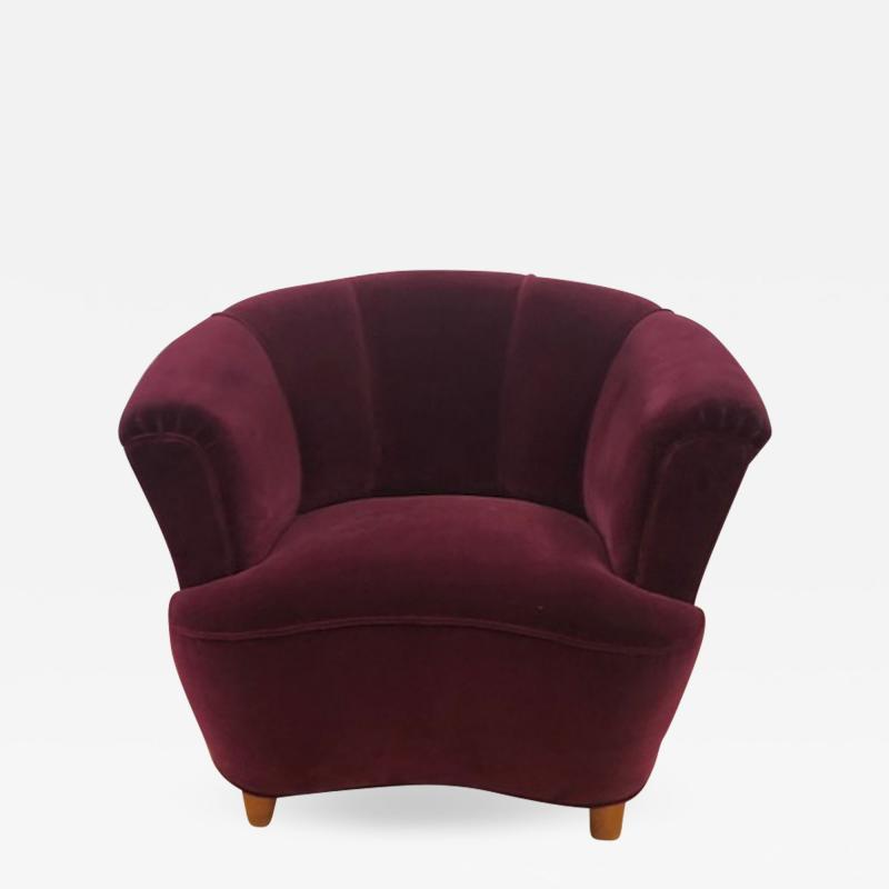 Otto Schulz Otto Schulz Velvet Club Chair