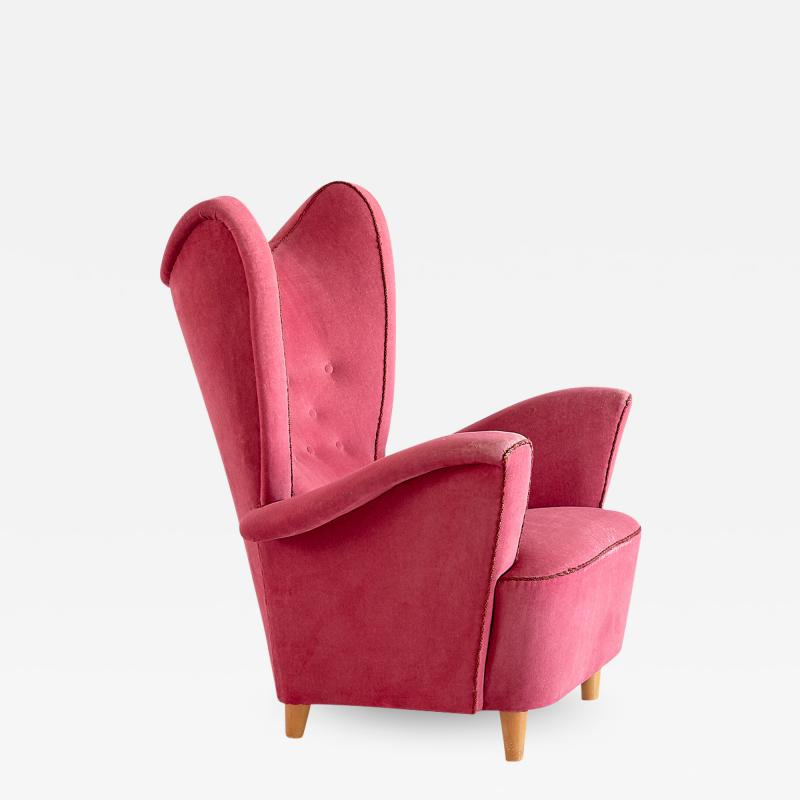 Otto Schulz Otto Schulz Wingback Armchair for Boet Sweden Late 1940s