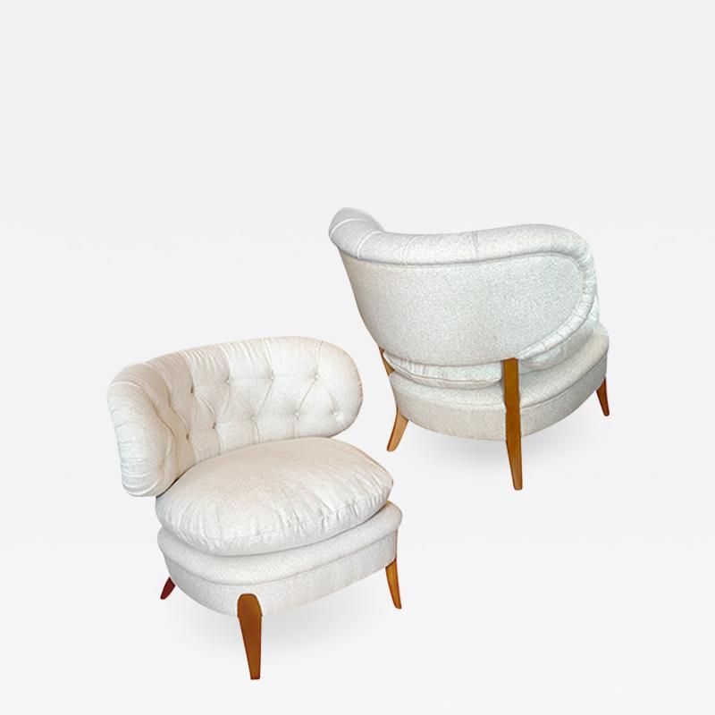 Otto Schulz Slipper chairs by Otto Schulz