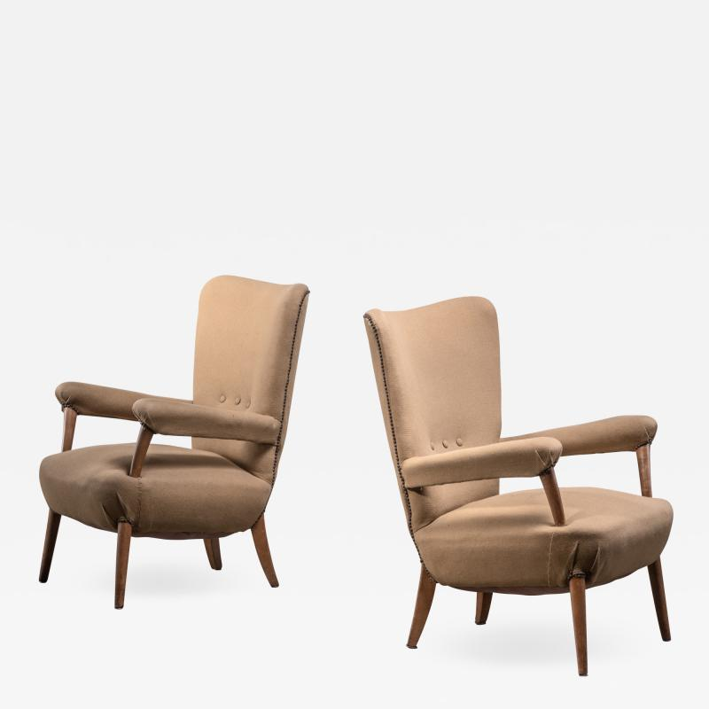 Ottorino Aloisio Pair of Ottorino Aloisio chairs for Colli