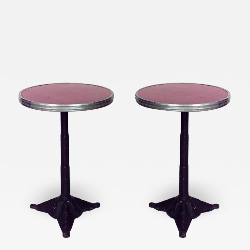 Outdoor Painted Iron Cafe Table
