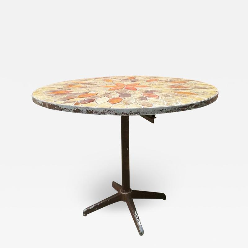 Outdoor ceramic table 1940s