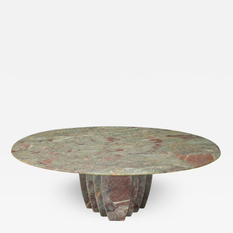 Oval Marble Coffee Table Italy 1970s