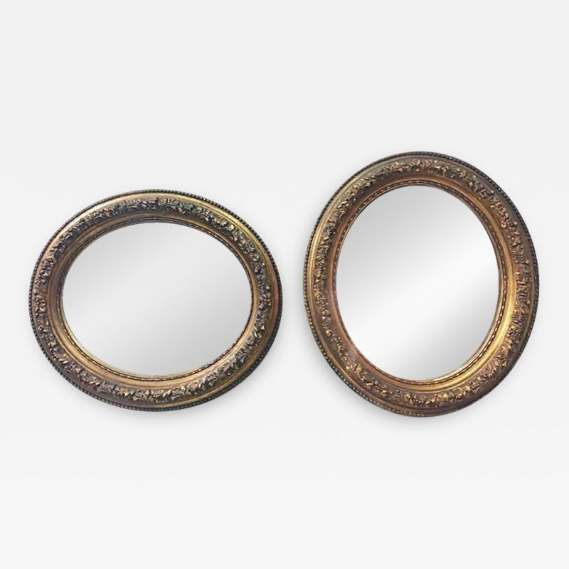 Oval gold mirrors 1900s
