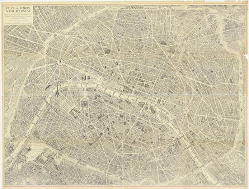 Oversized Map of Paris