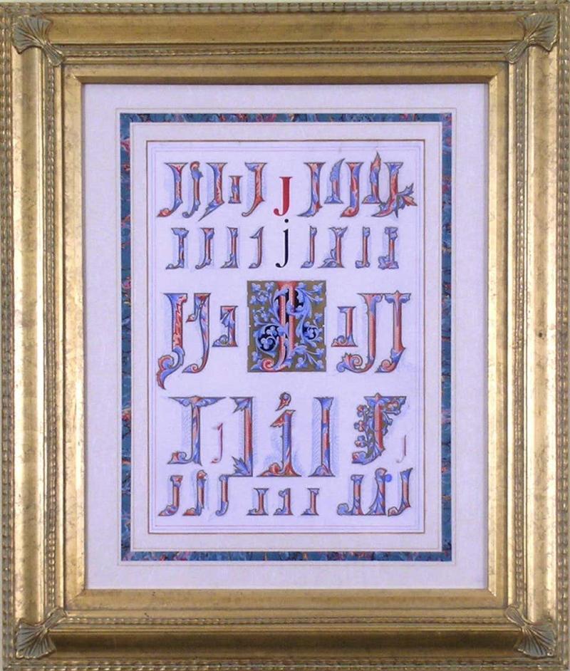 Owen Jones Owen Jones Initial Letters J Alphabet 1864