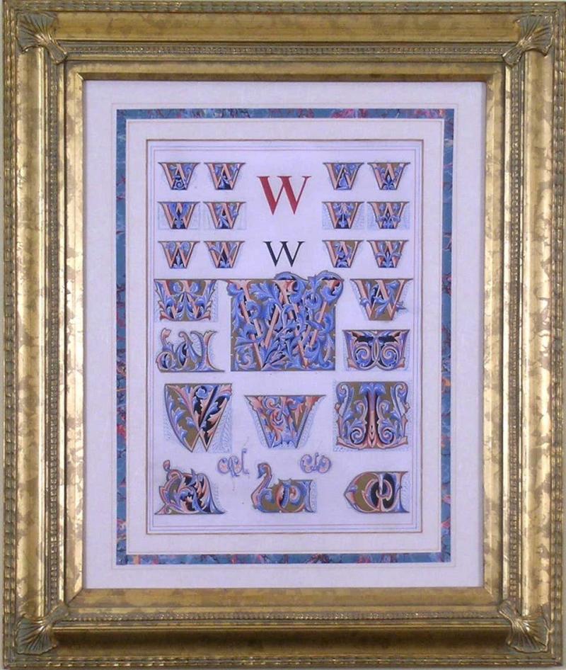 Owen Jones Owen Jones Initial Letters W Alphabet 1864