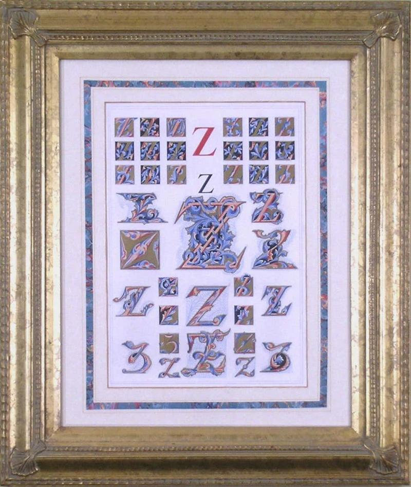 Owen Jones Owen Jones Initial Letters Z Alphabet 1864