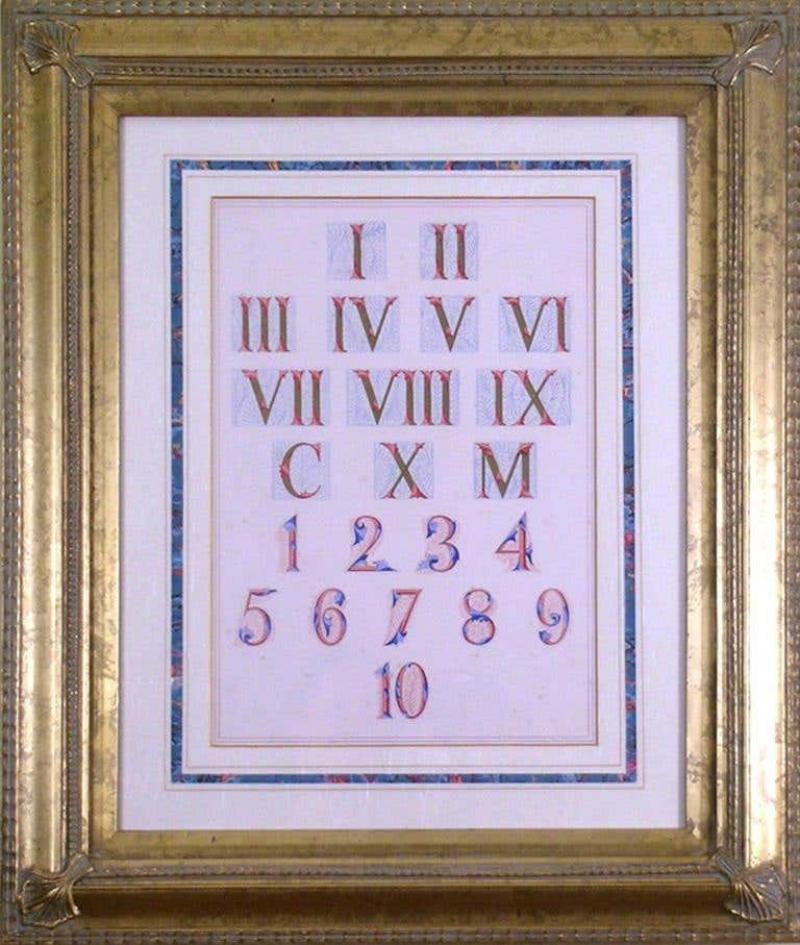 Owen Jones Owen Jones Roman and Arabic Numerals Numbers 1864