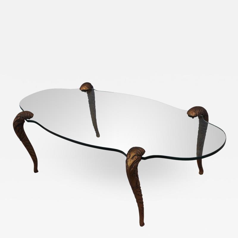 P E Guerin P E Guerin Style Gilt Legs Coffee Table