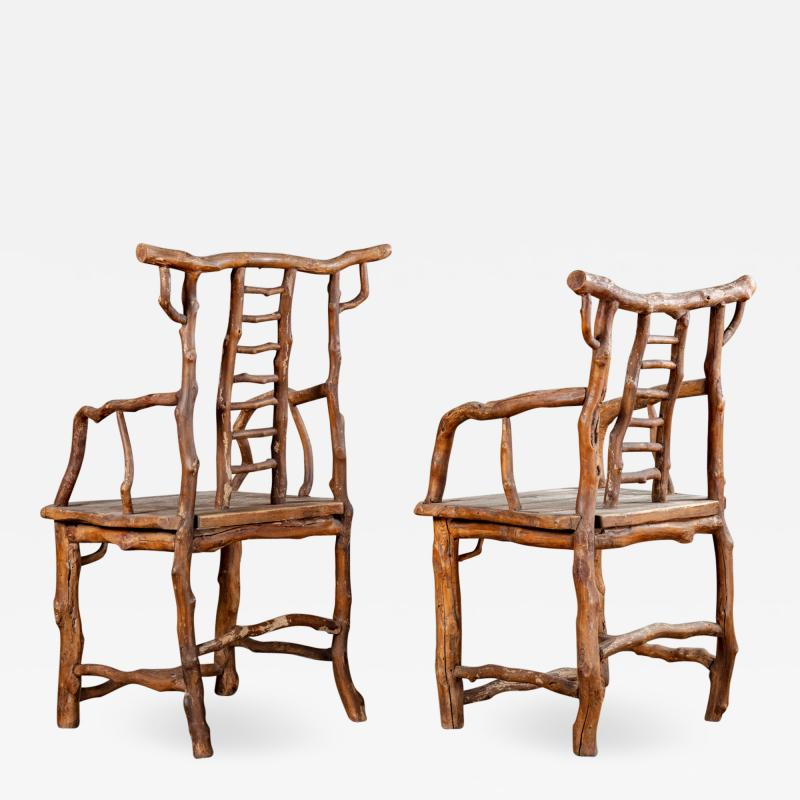 PAIR BRANCH ARMCHAIRS
