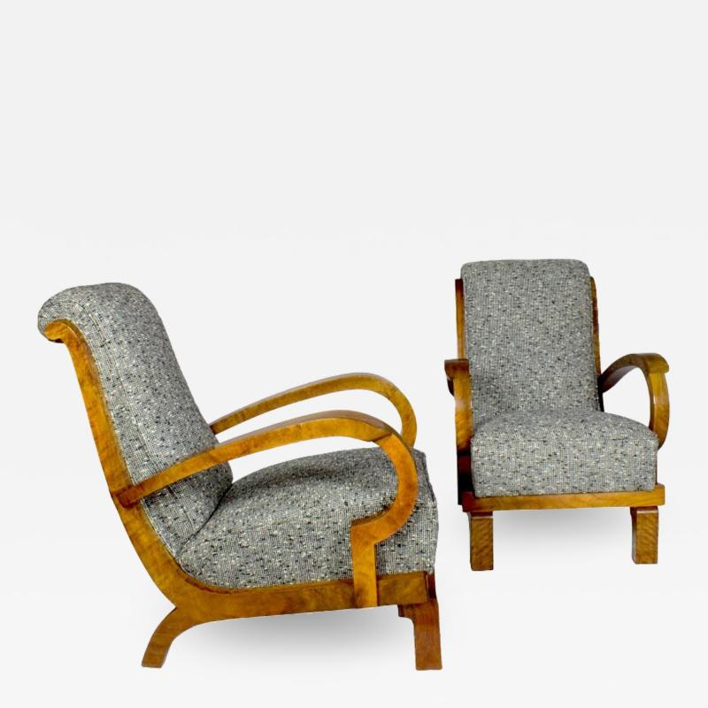 PAIR OF ART DECO ARMCHAIRS ITALY 1930