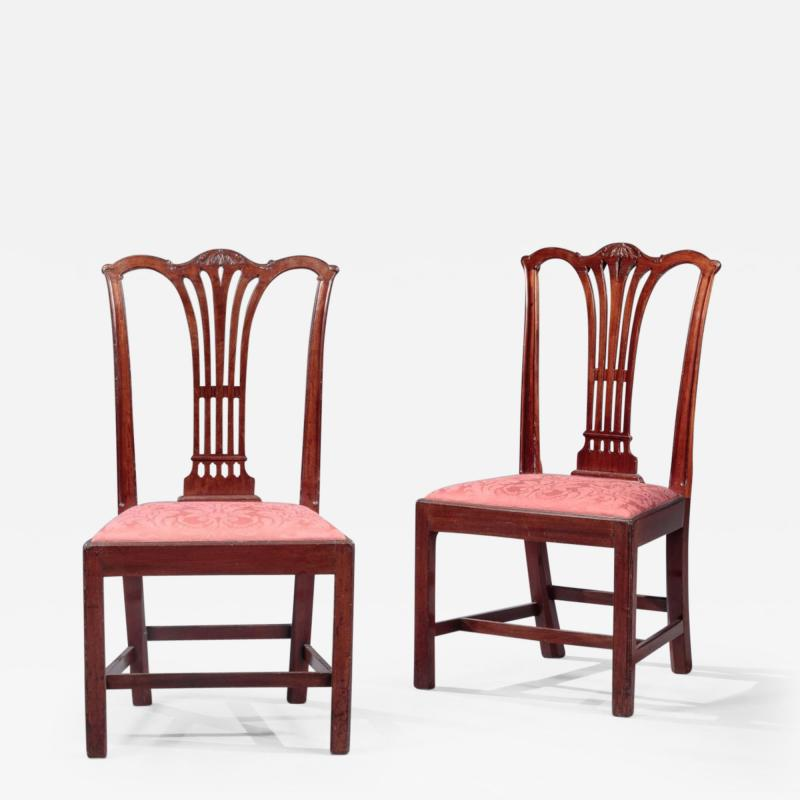 PAIR OF CARVED CHIPPENDALE SIDE CHAIRS