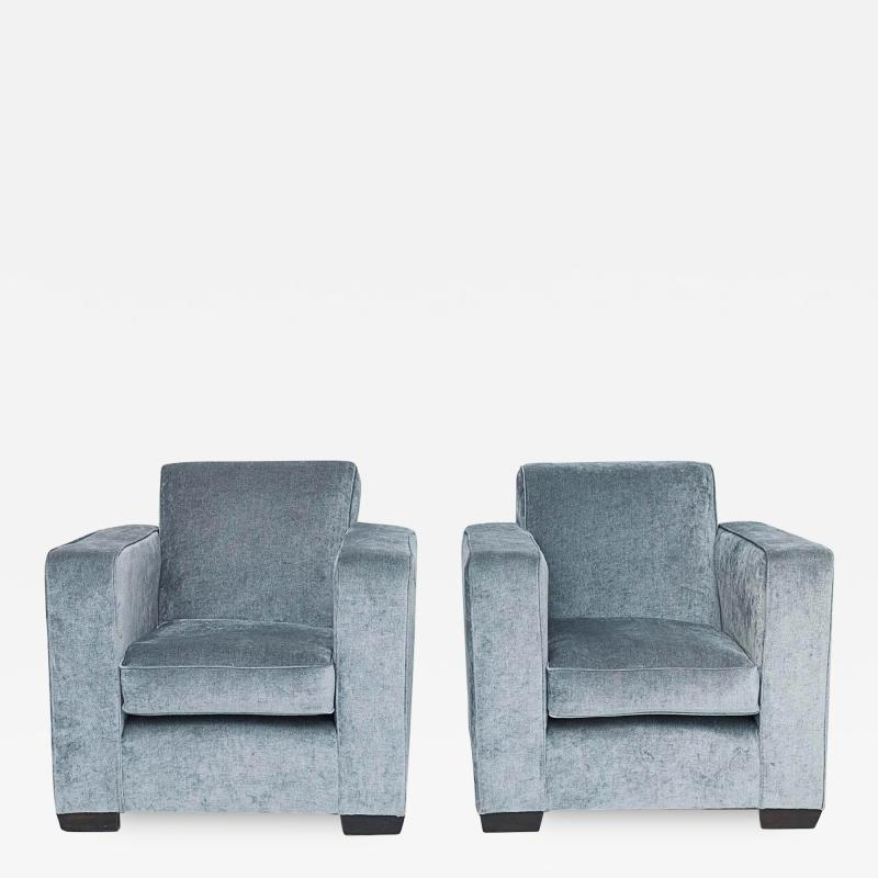 PAIR OF FRENCH ART DECO ARMCHAIRS