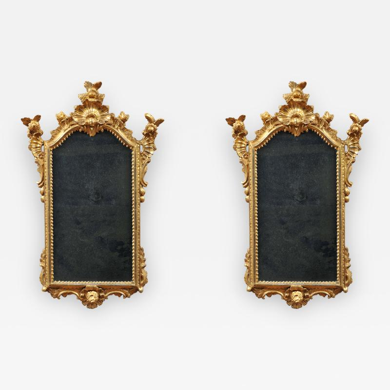PAIR OF LATE BAROQUE GILTWOOD MIRRORS
