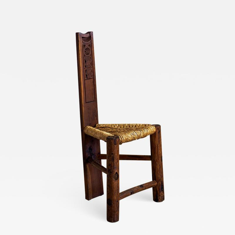 PRIMITIVE RUSHED CHAIR