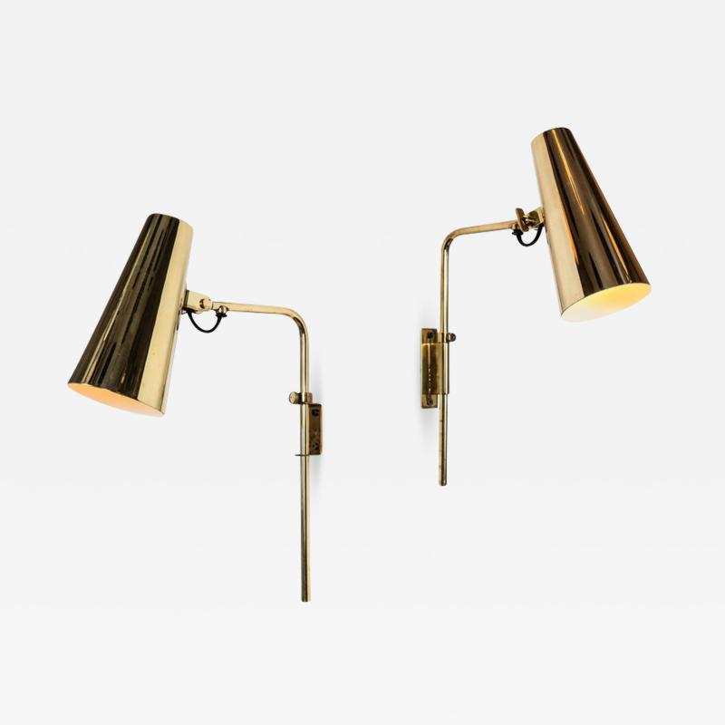 Paavo Tynell 1950s Paavo Tynell Model 9459 Brass Wall Lights for Taito OY