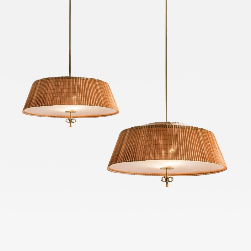 Paavo Tynell A Pair of Pendants by Paavo Tynell for Taito Oy