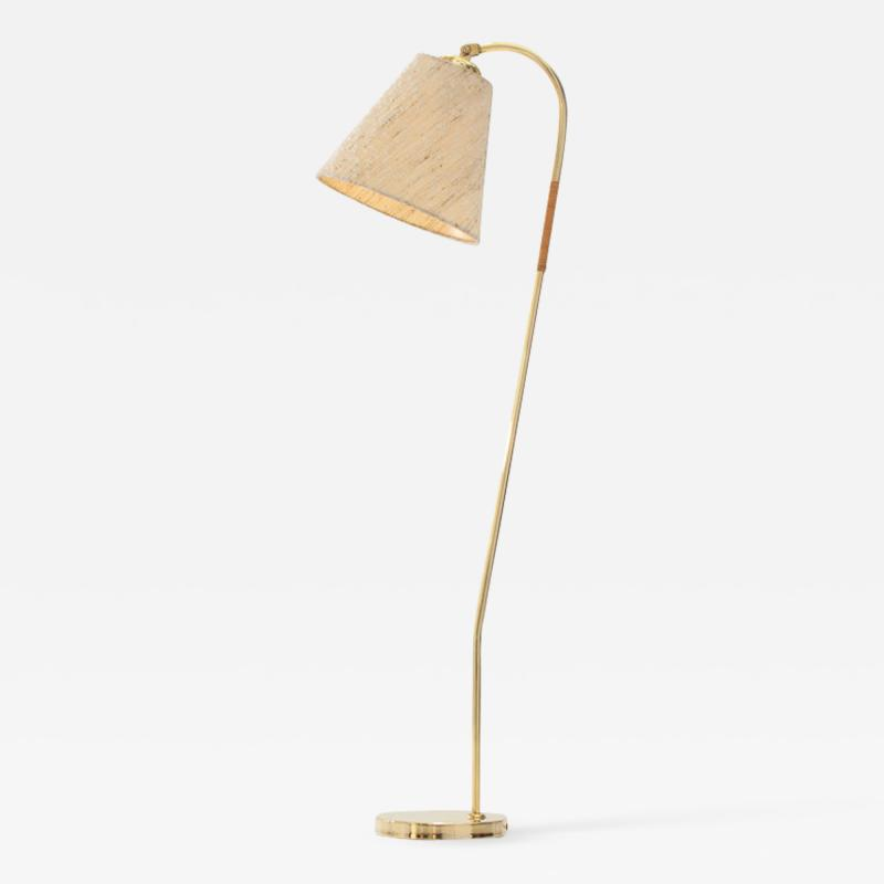 Paavo Tynell Idman Oy Brass floor lamp by Paavo Tynell attr Finland 1950s