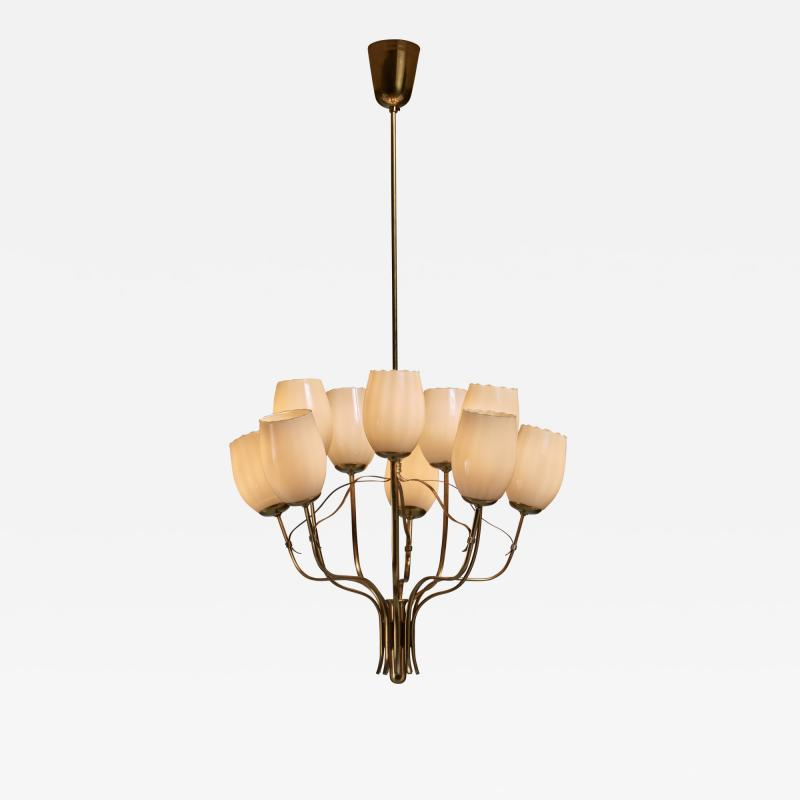 Paavo Tynell Paavo Tynell Chandelier for Sokos Helsinki House Taito Finland 1950s