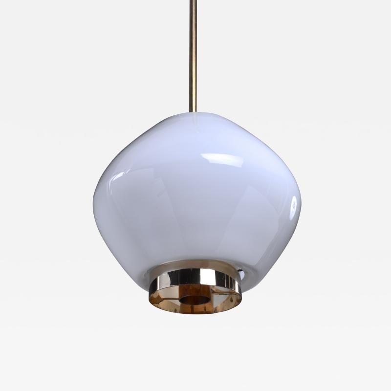 Paavo Tynell Paavo Tynell Rare Opaline Glass Pendant for Idman Finland 1950s