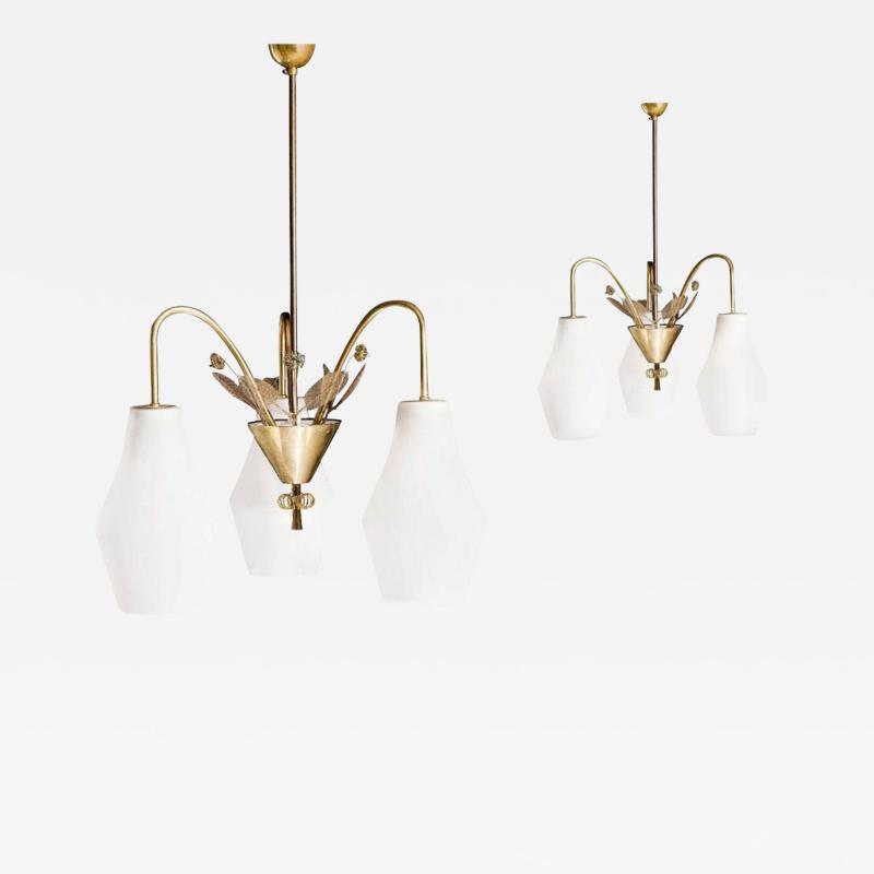 Paavo Tynell Pair of Chandelier by Paavo Tynell