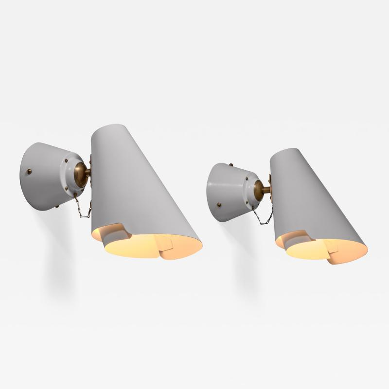 Paavo Tynell Pair of Paavo Tynell model 2351 wall lamps for Idman Finland