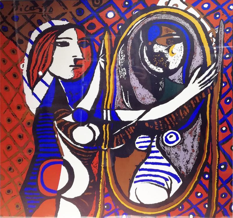 Pablo Picasso Picasso Unique Framed Scarf circa 1960