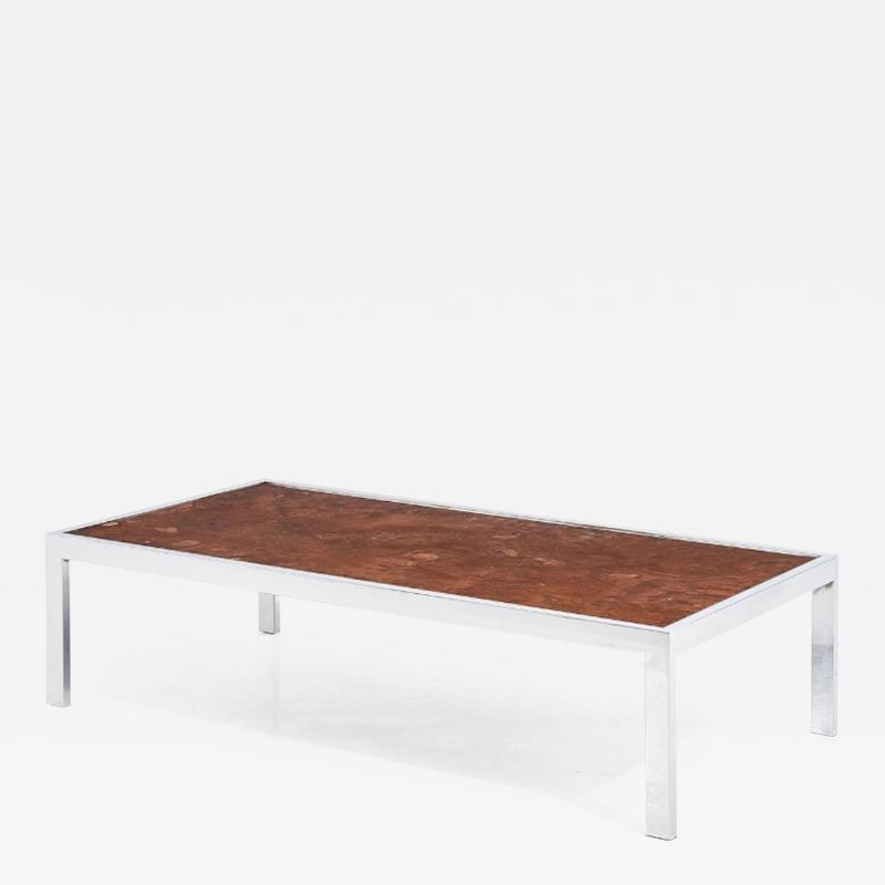 Pace Collection Copper and Chrome Coffee Table 1970