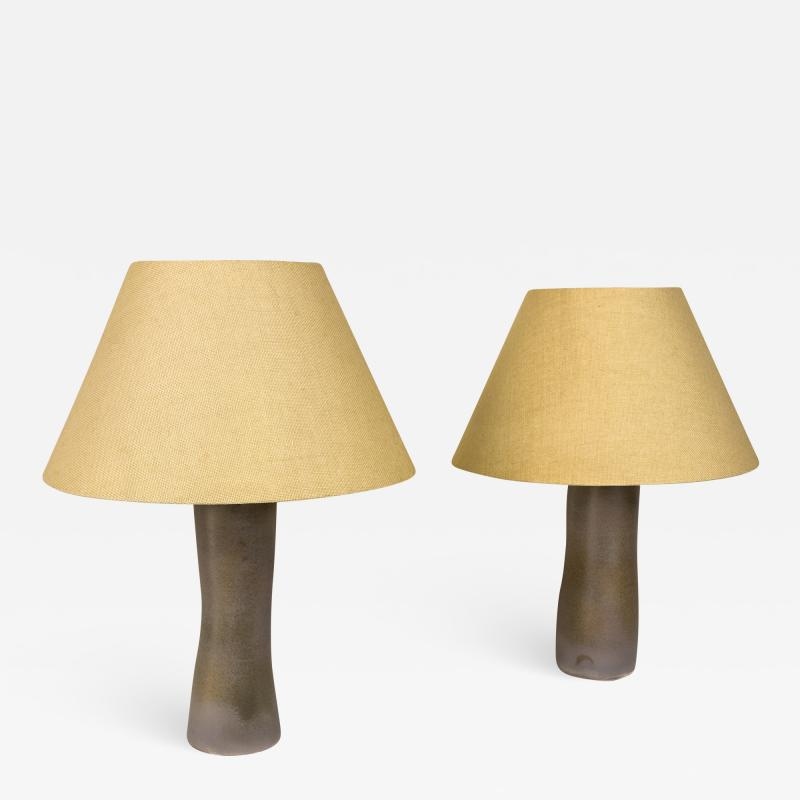 Paco Orti Pair of Serge Castella Ceramic Table Lamps for Paco Orti 2019 France